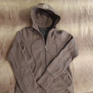 Lululemon hooded full zip sweatshirt, grey sparkle